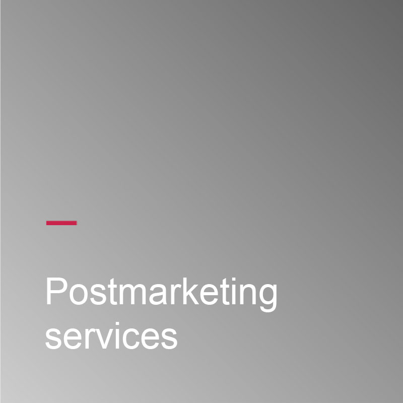Postmarketing services